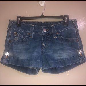 "True Religion jean shorts size 27 ""Jess"""